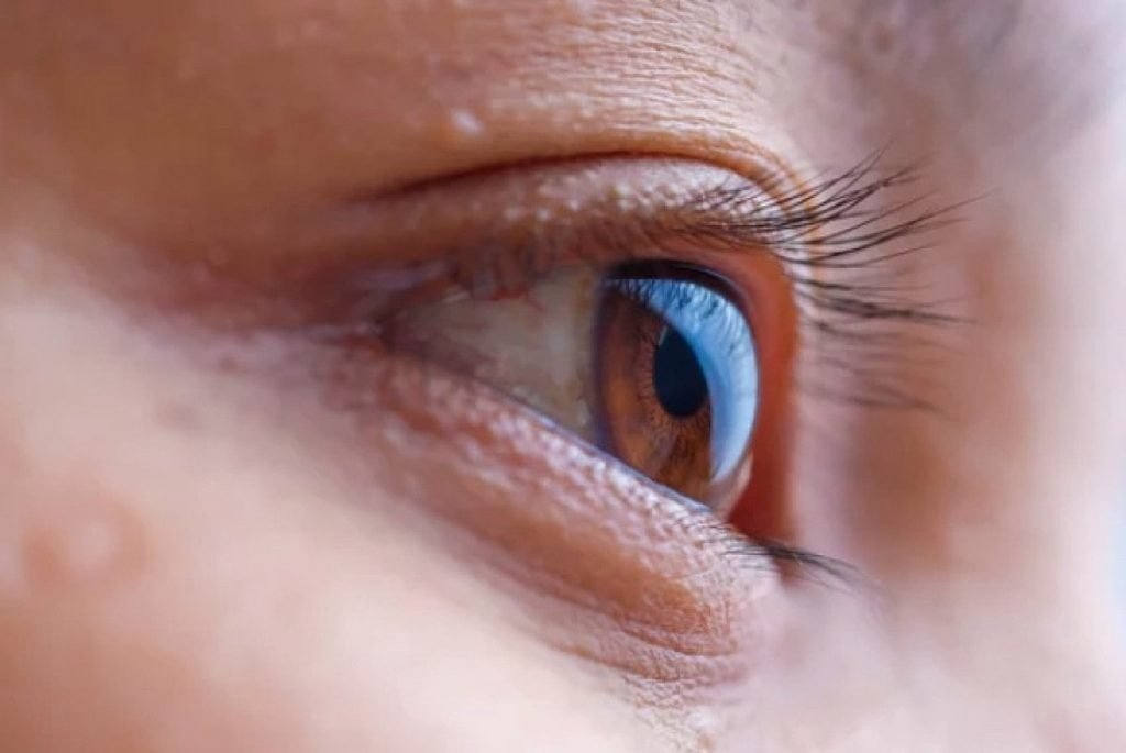 Close up picture of a human eyes